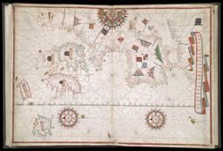 Portolan Chart of Western Europe Showing the British Isles(001ADD000005019U00005000)